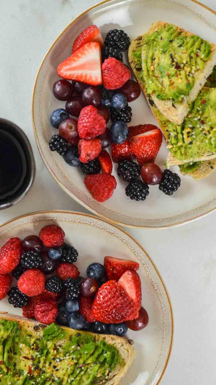 avo toast fruit