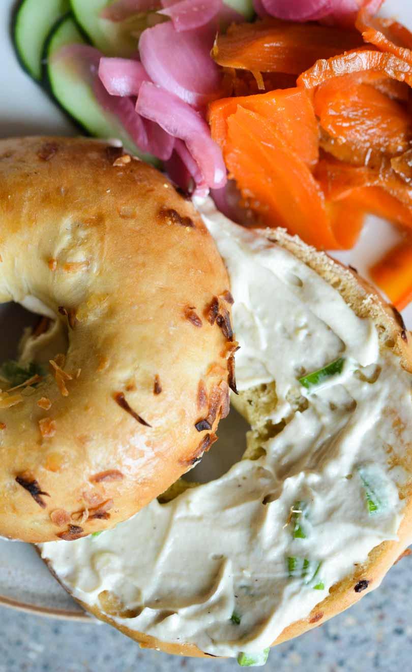 bagel cashew cream cheese carrot lox