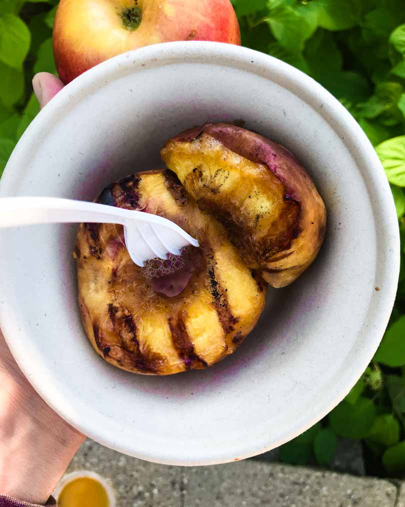 grilled peach at MN state fair