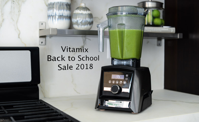 Vitamix back to school sale 2018 featuring green juice in A3500 by Life is NOYOKE.