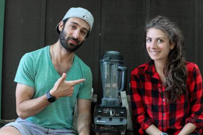 Shalva and Lenny Gale of Life is noyoke with a classic Vitamix