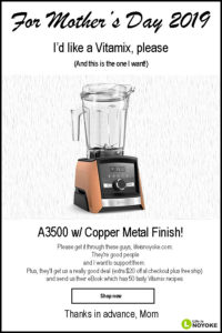 vitamix mothers day sale 2019 life is noyoke copper metal a3500