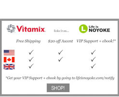 Vitamix US, Canada, UK free shipping and 20 off Ascent Series from Life is NOYOKE