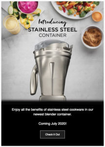 vitamix stainless steel container teaser
