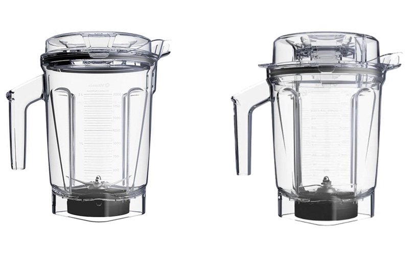 64 oz and 2-litre vitamix containers with Self Detect