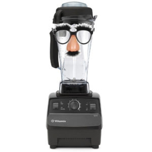 Vitamix 5200 alias with cartoonish fake nose and mustache disguise.