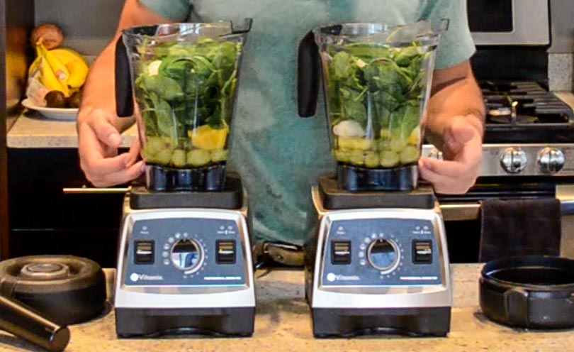 certified reconditioned vitamix next to a new one