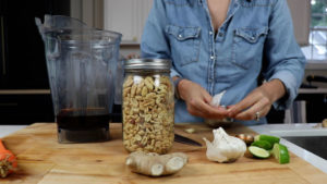thai peanut sauce in 64-ounce low profile vitamix container